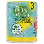 John West No Drain Tuna Steak in Sunflower Oil