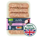 Morrisons The Best Gluten Free Thick Pork & Caramelised Onion Sausages