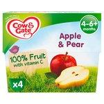 Cow & Gate 4-36 Mths Apple & Pear Fruit Pots