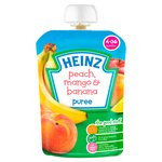 Heinz 4 Mths+ Smooth Peach, Mango & Banana