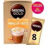 Nescafe Gold Vanilla Latte Instant Coffee Sachets 8s