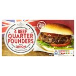 Morrisons Beef Quarter Pounder Burger With Onions