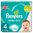 Pampers Baby Dry Size 4 Nappies Economy Packs 44 per pack