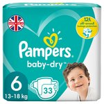 Pampers Baby Dry Size 6 Nappies Economy Packs