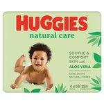 Huggies Natural Care Baby Wipe Quad