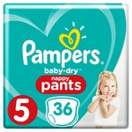 Pampers Baby-Dry Pants Size 5 Essential Pack Nappies