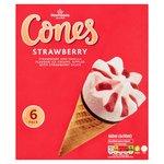 Morrisons Strawberry Ice Cream Cones