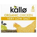 Kallo Very Low Salt Organic Chicken 6 Stock Cubes