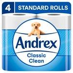 Andrex Classic Clean Toilet Tissue 4 Rolls