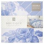 Floral Rose 100% Cotton Double Bed Set