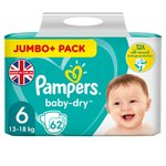 Pampers Baby Dry Nappies Size 6 Extra Large Jumbo+Pack