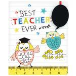 Best Teacher Ever Owl Wall Plaque